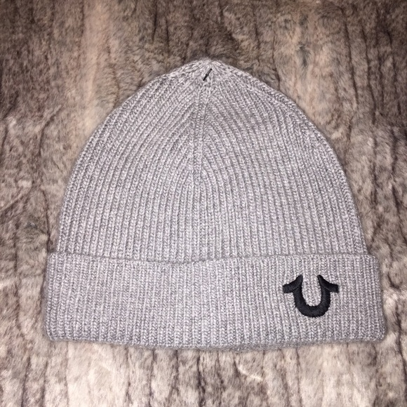 79ed9d2bac262 NWT New True Religion Gray Cashmere Blend Hat